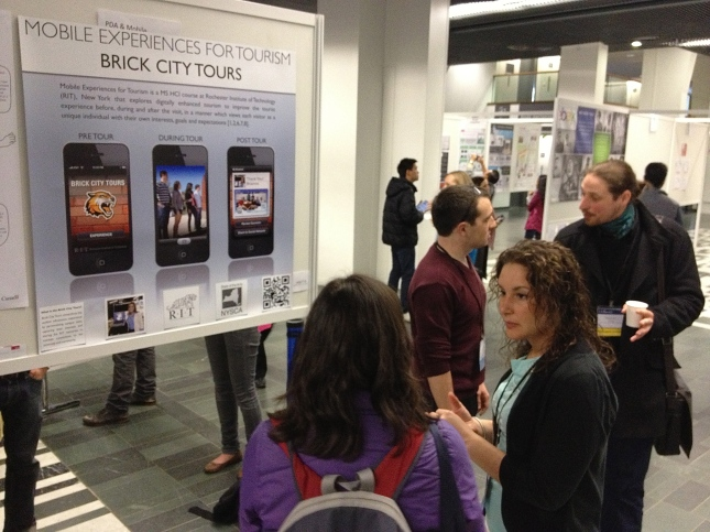 Students present research at CHI 2013 Paris